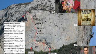 Via Canalla, 7b,  al Roc del Collars
